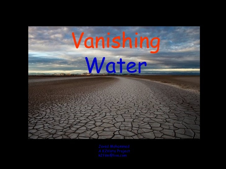 Vanishing water