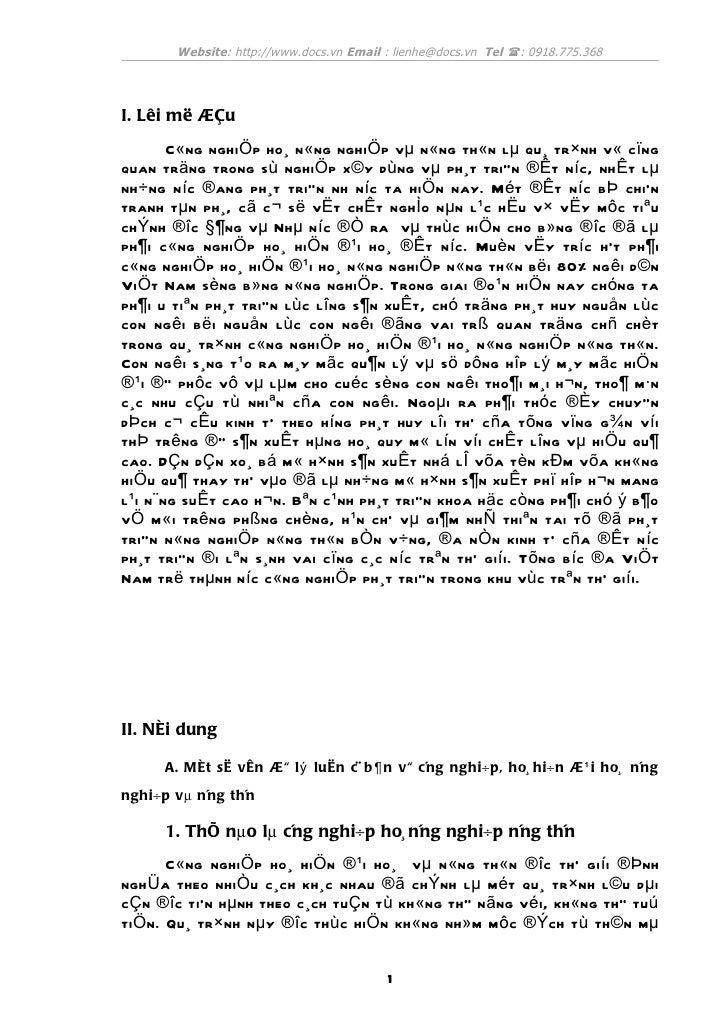 Website: http://www.docs.vn Email : lienhe@docs.vn Tel (: 0918.775.368I. Lêi më ®Çu          C« ng nghi Ö p ho¸ n « ng ngh...