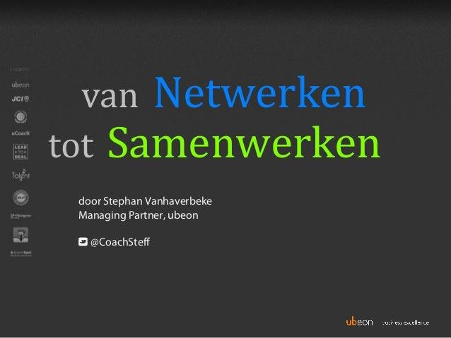 Van netwerken tot samenwerken