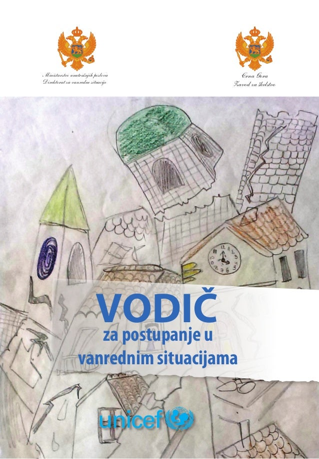 1  Ministarstvo unutrašnjih poslova  Direktorat za vanredne situacije  VODIČ  za postupanje u  Crna Gora  Zavod za školstv...