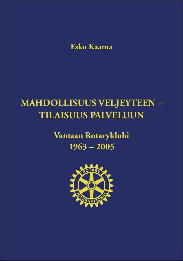Vantaan rotaryklubi 1963 - 2005