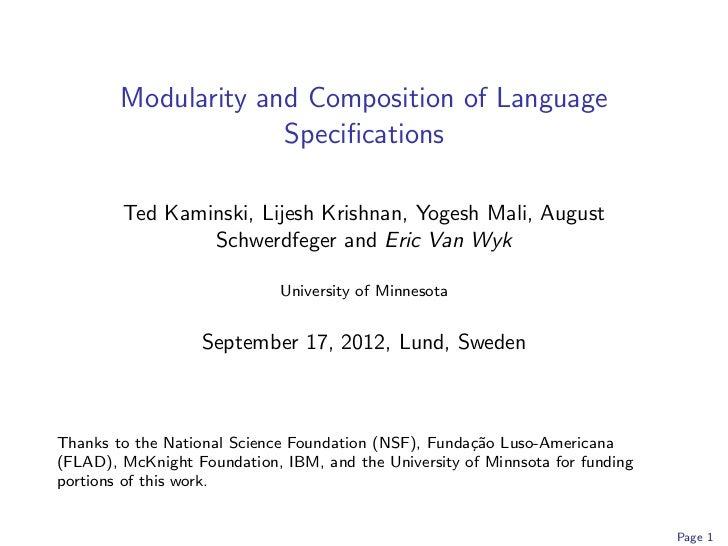 Talk Lund University CS Department