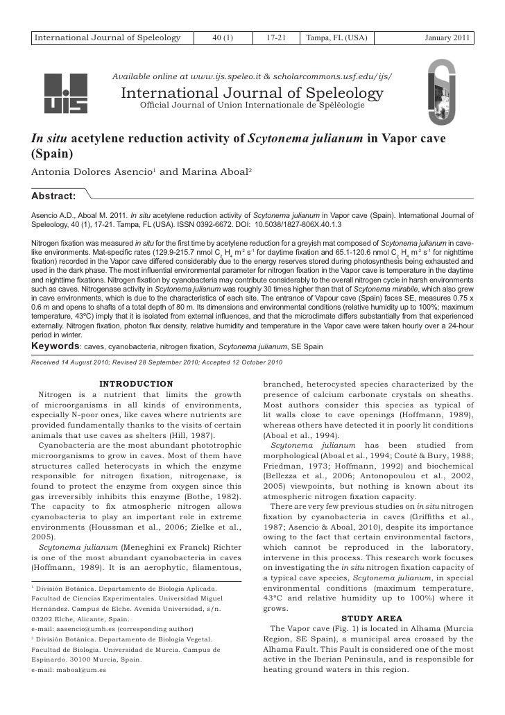 International Journal of Speleology                  40 (1)           17-21       Tampa, FL (USA)                       Ja...
