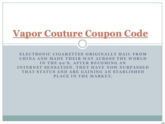 Vapor couture coupon code