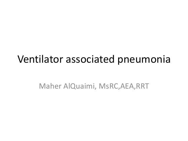 essay on ventilator associated pneumonia