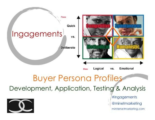 Ingagements       Buyer Persona ProfilesDevelopment, Application, Testing & Analysis                                 #inga...