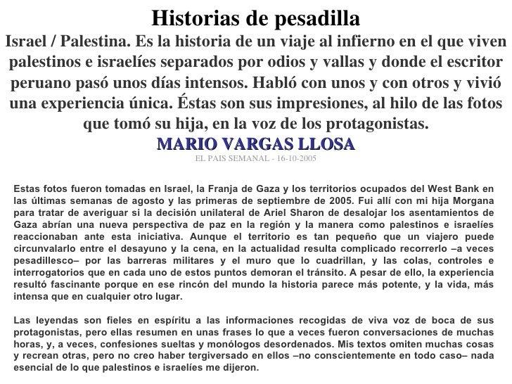Vargas Llosa en Palestina (2005)