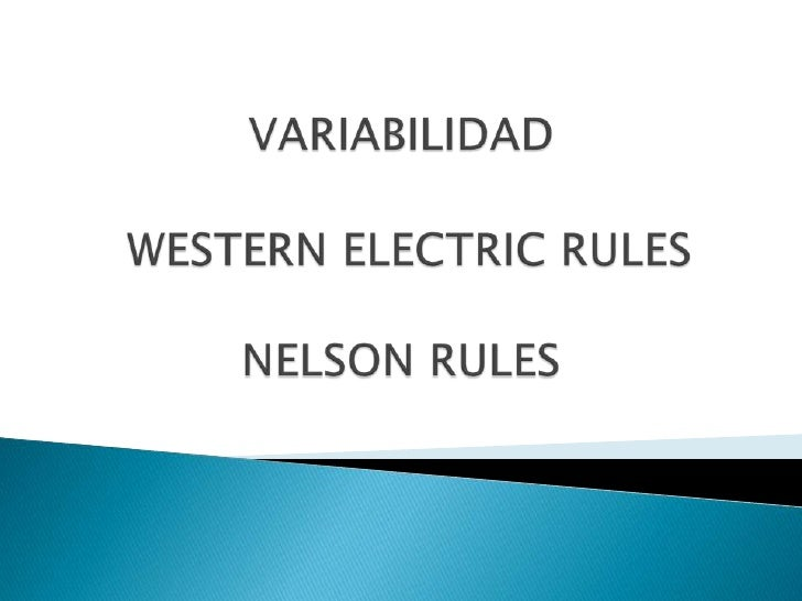 VARIABILIDAD, WESTER E