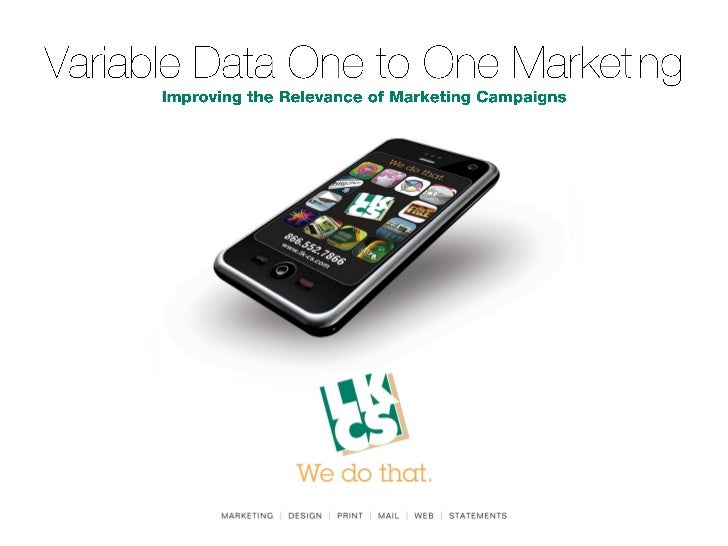 Variable Data One to One Marketing