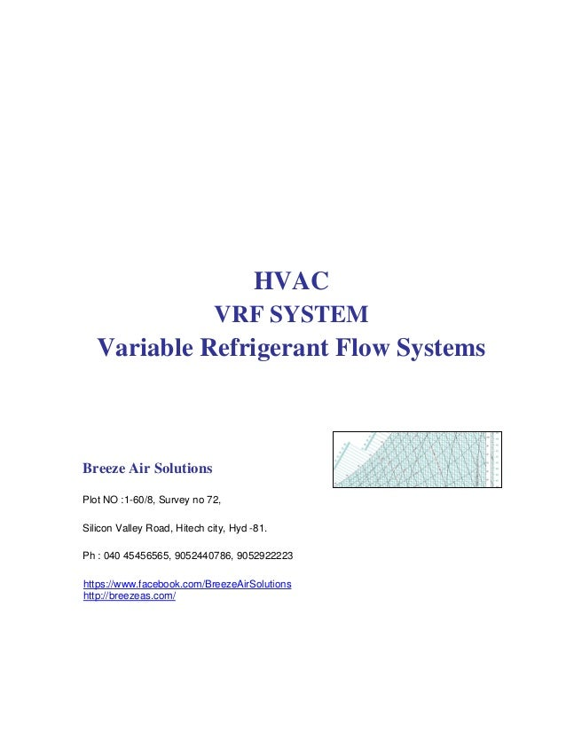 HVAC VRF SYSTEM Variable Refrigerant Flow Systems Breeze Air Solutions Plot NO :1-60/8, Survey no 72, Silicon Valley Road,...