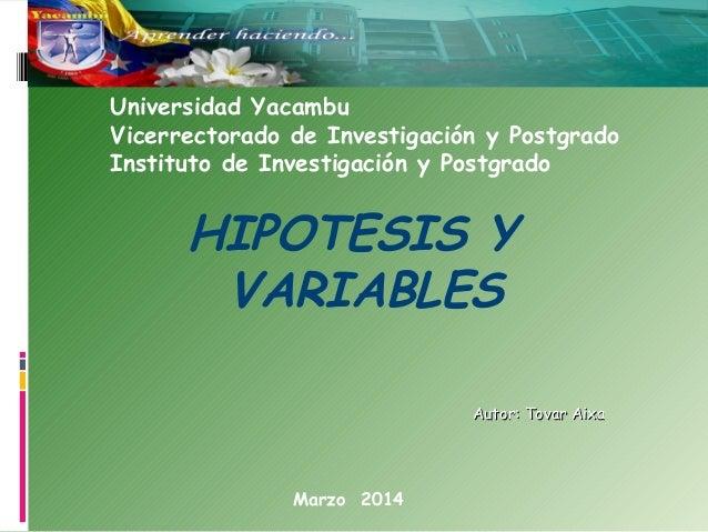 Variables e Hipótesis