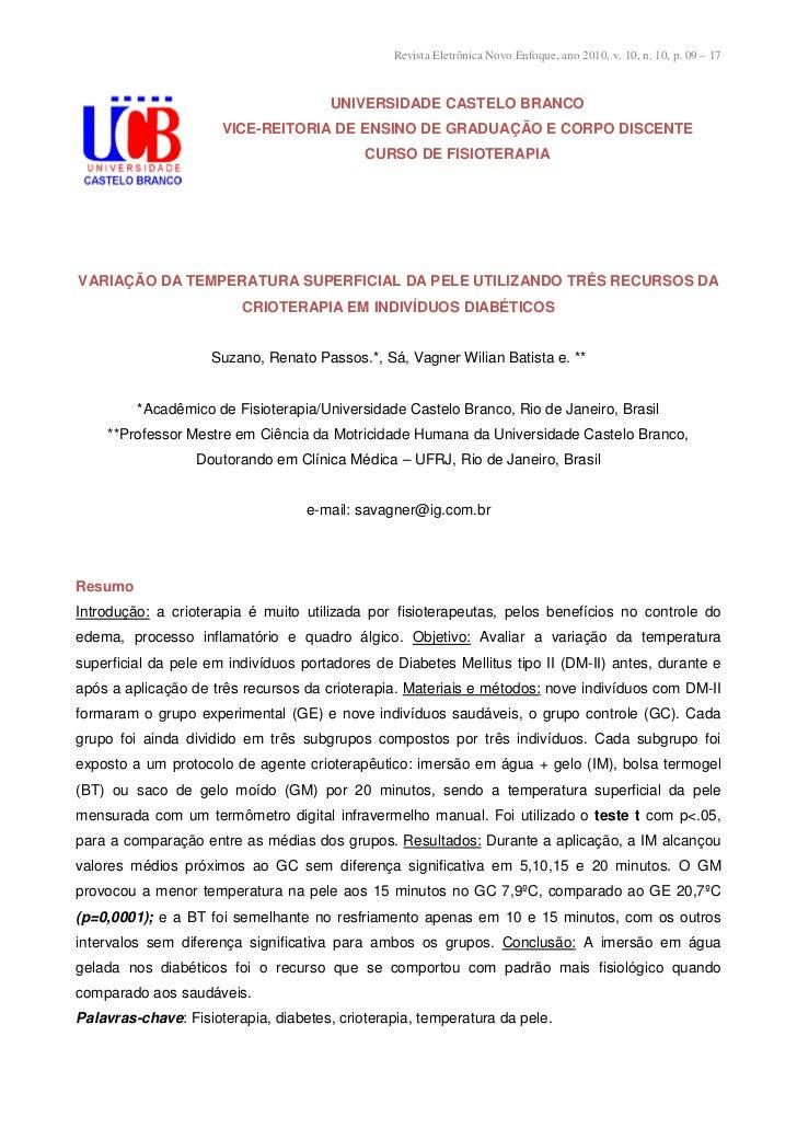 Revista Eletrônica Novo Enfoque, ano 2010, v. 10, n. 10, p. 09 – 17                                      UNIVERSIDADE CAST...