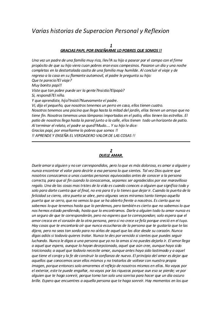 Varias historias de Superacion Personal y Reflexion                                           1                  GRACIAS P...