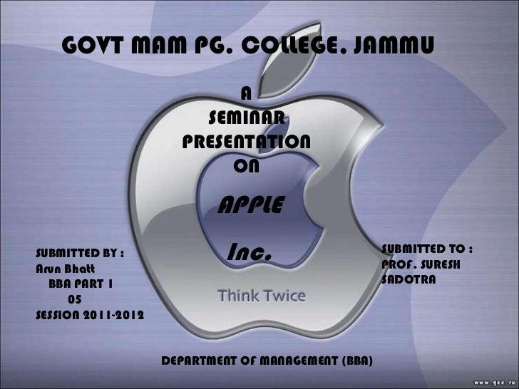 Ppt On Apple Inc.