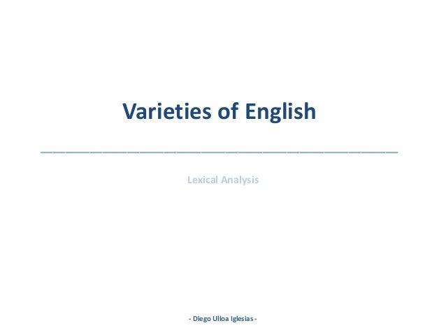 Varieties of english