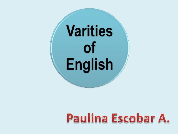 Varities of english