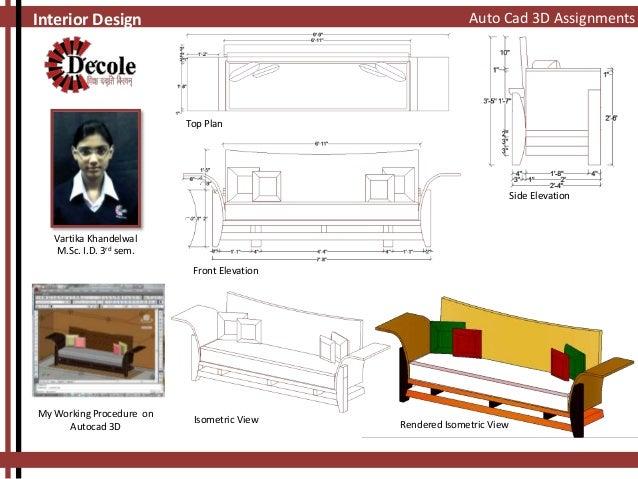 Plan And Elevation Of Sofa : Vartika khandelwal m sc i d rd sem sofa design