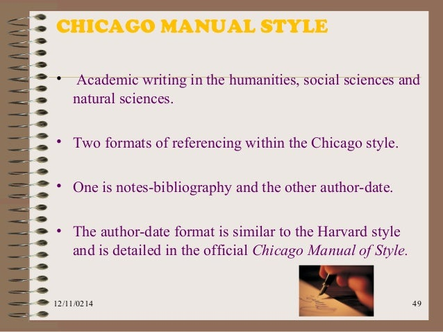 Example Of Chicago Style Essay