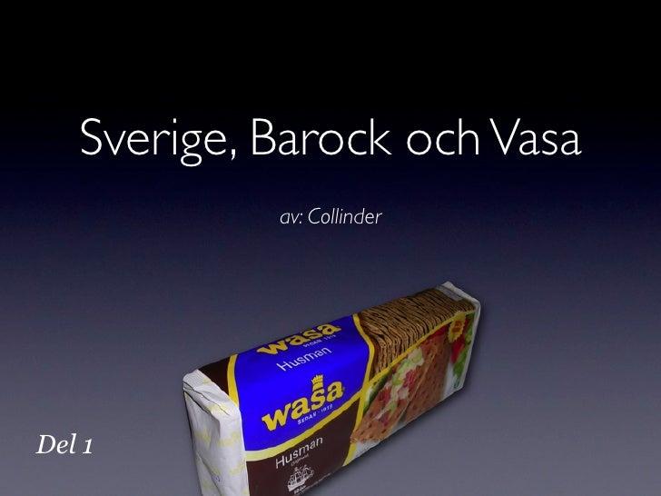 Sverige, Barock och Vasa             av: Collinder     Del 1