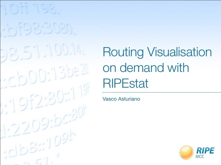 Routing Visualisation on demand with RIPEstat