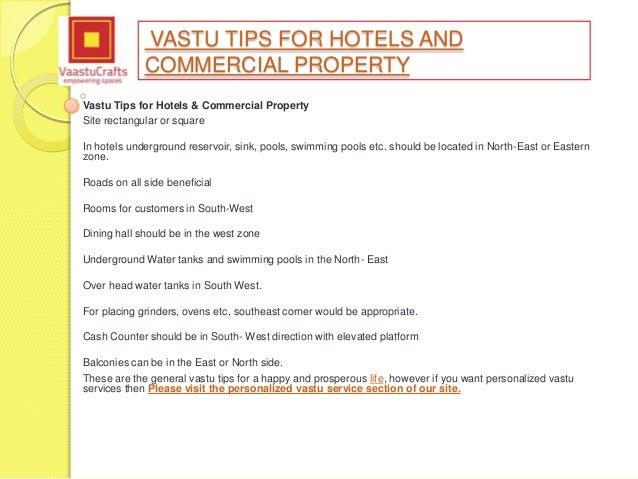 Vastu Shastra Tips For Hotel amp Commercial Property