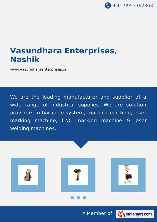 +91-9953362363  Vasundhara Enterprises, Nashik www.vasundharaenterprises.in  We are the leading manufacturer and supplier ...