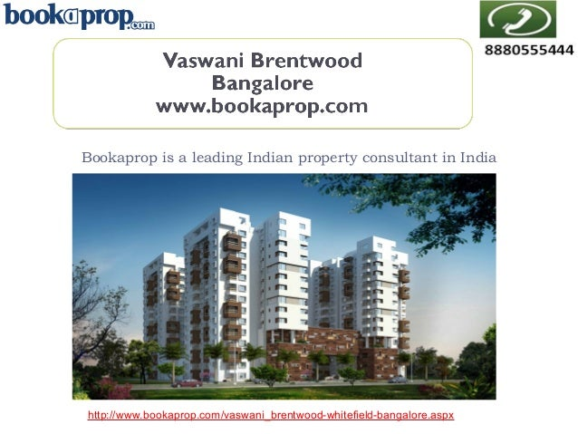 2 BHK Apartment for sale in Vaswani Brentwood - Call 8880066555