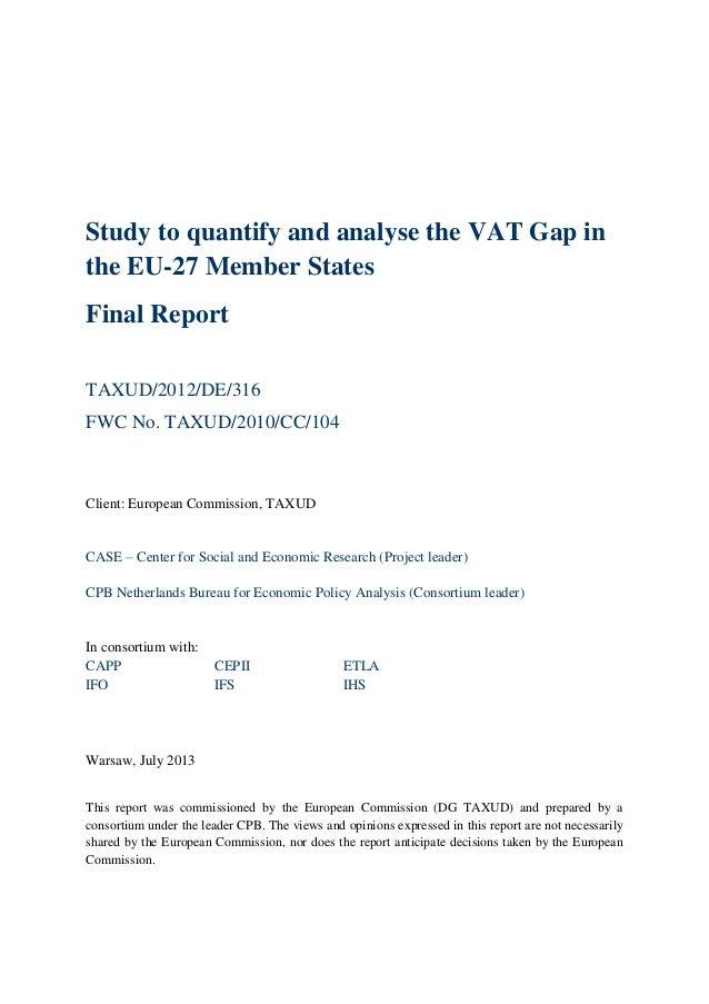 Vat gap analyza