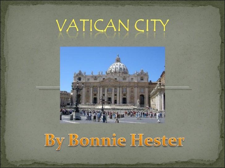 Vatican City Bonnie