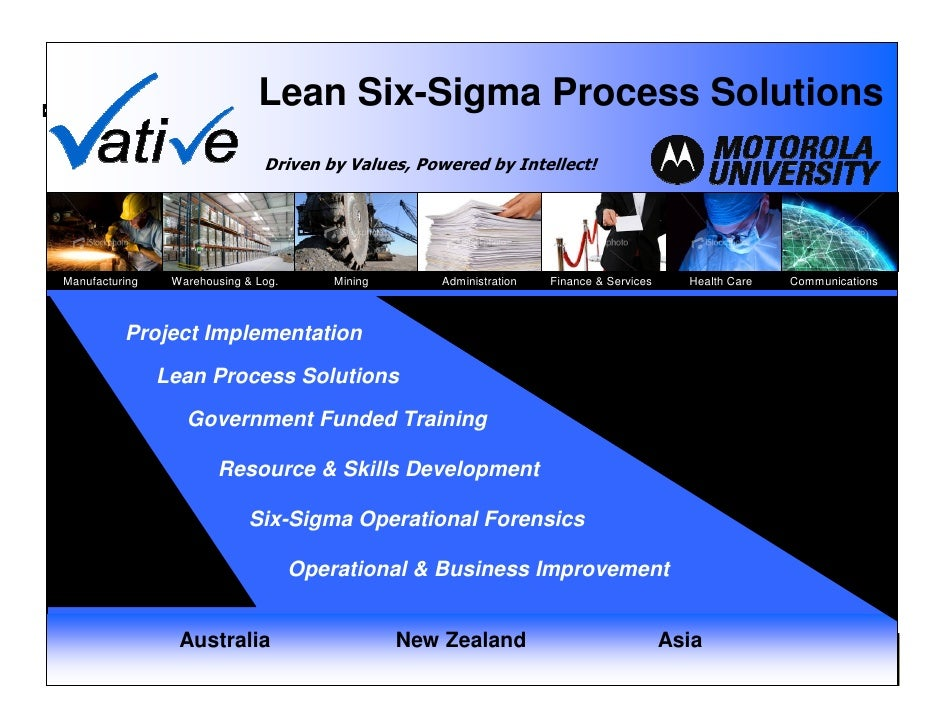 Lean Six-Sigma Process Solutions                                    Driven by Values, Powered by Intellect!     Manufactur...