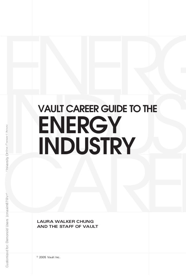 Career Guide Energy Industry