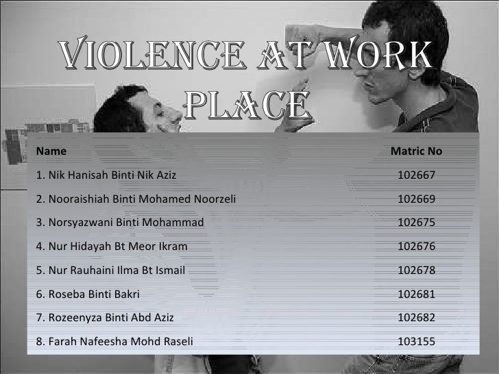 Violence at Workplace