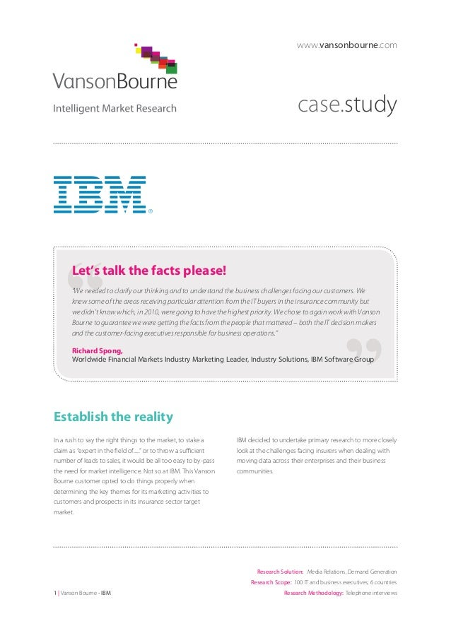 """www.vansonbourne.com  case.study  Let's talk the facts please! """"We needed to clarify our thinking and to understand the bu..."""