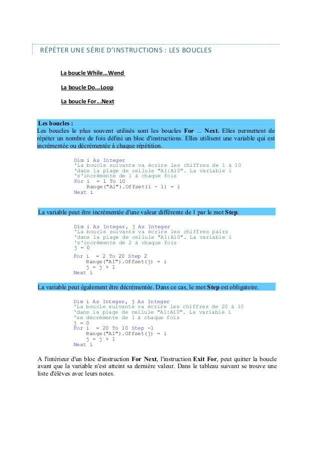Visual Basic pour Application (VBA) http :\/\/perso.wanadoo ...