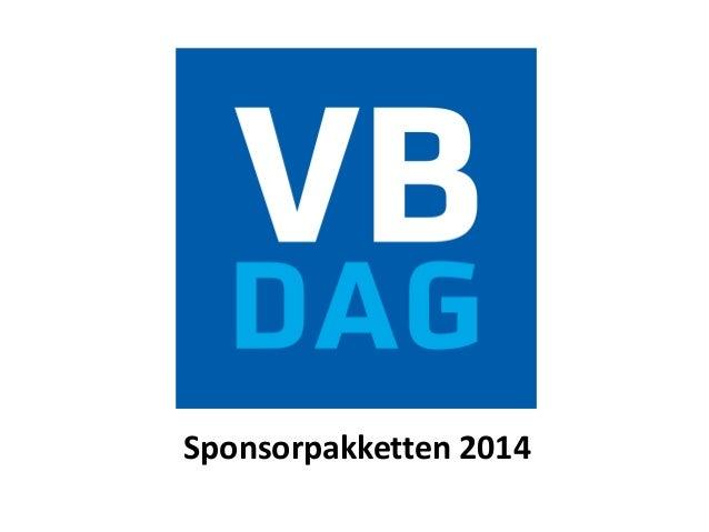 VBdag sponsorpakketten 2014