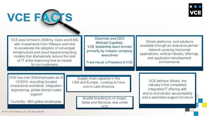 Vblock Emc Cisco 2009 by Cisco And Emc With