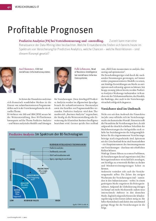 42               VERSICHERUNGS-ITProfitable Prognosen                       Predictive Analytics (PA) bei Vertriebssteueru...