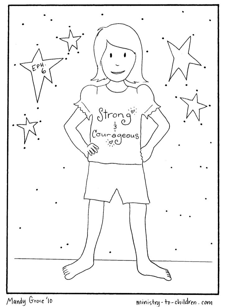 Vbs coloring pages armor of-god-2