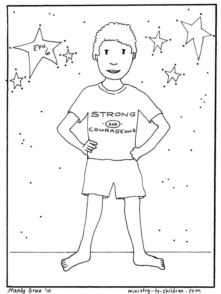 Vbs coloring pages armor of god 3 for God is my shield coloring page