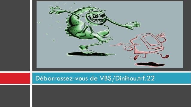 Débarrassez-vous de VBS/Dinihou.trf.22