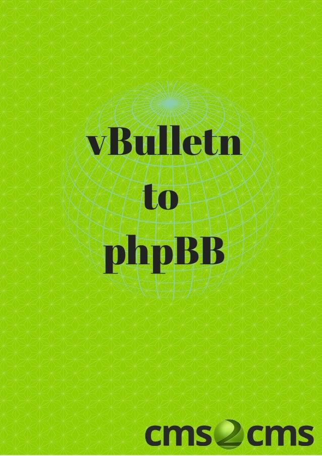 vBulletn to phpBB