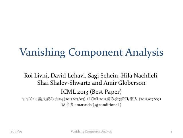Vanishing Component Analysis