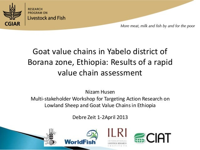 Goat value chains in Yabelo district ofBorana zone, Ethiopia: Results of a rapid        value chain assessment            ...