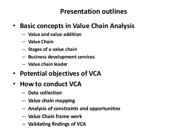 Value chain analysis research paper
