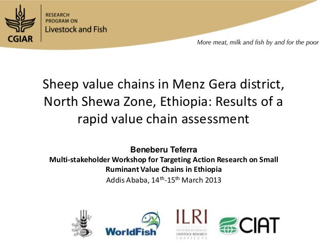 Sheep value chains in Menz Gera district,North Shewa Zone, Ethiopia: Results of a     rapid value chain assessment        ...