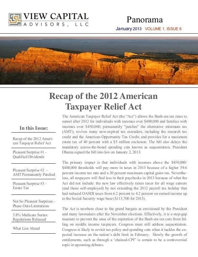 Panorama                                                                 January 2013 VOLUME 1, ISSUE 6                   ...