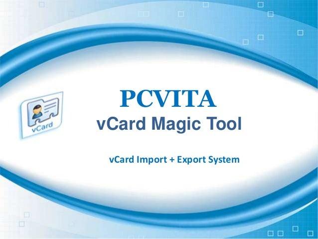PCVITA vCard Magic Tool vCard Import + Export System