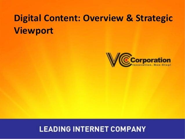 Nội dung số: VCCorp & Chiến  lược phát triển nội dung số