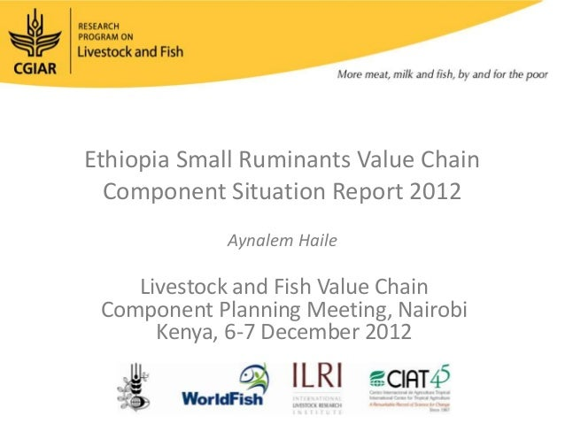 Ethiopia Small Ruminants Value Chain Component Situation Report 2012