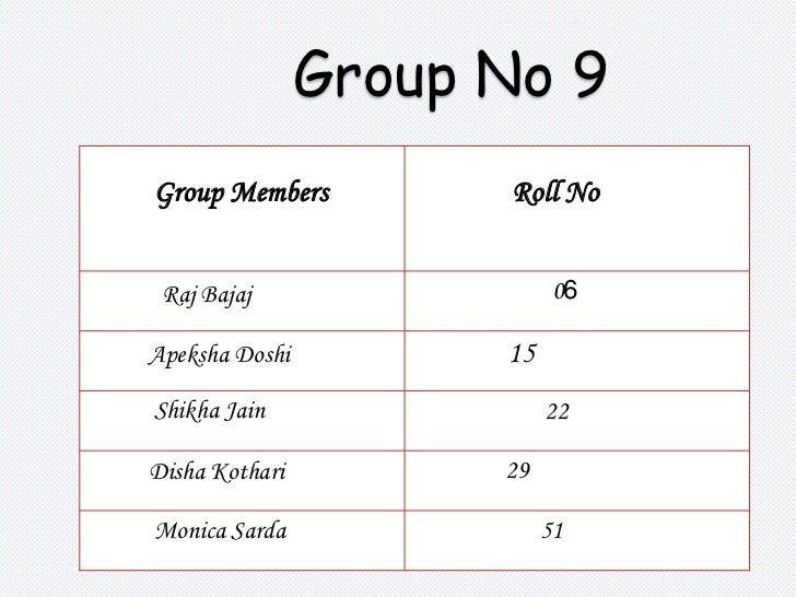 Group No 9 <br />